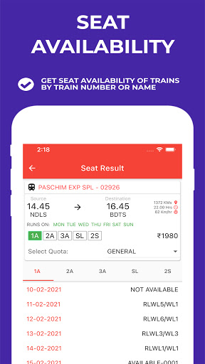 Indian Railway Timetable - Live train location android2mod screenshots 3