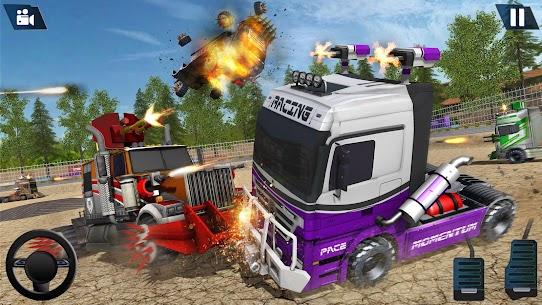 Semi Truck Crash Race 2021: New Demolition Derby 9