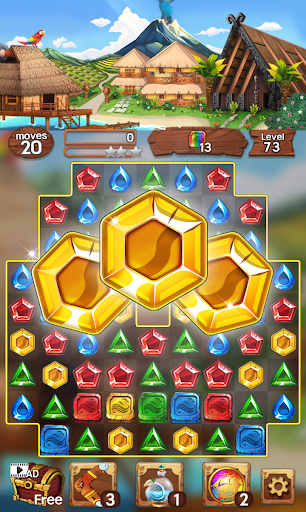 Sea of Jewels : Aloha ! Match3 puzzle modavailable screenshots 16