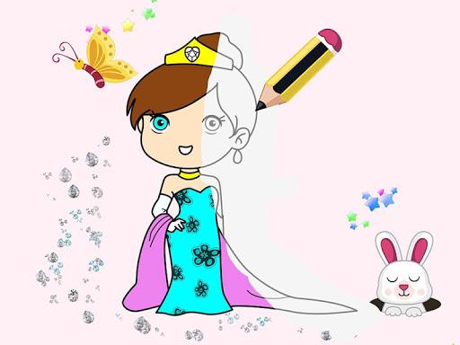 Kids Princess Coloring Book  screenshots 1