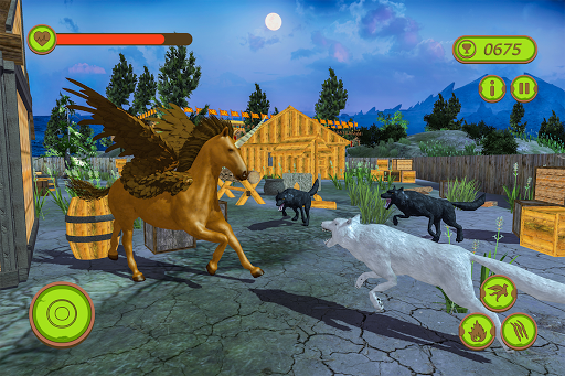 Flying Unicorn Horse Family Jungle Survival android2mod screenshots 9