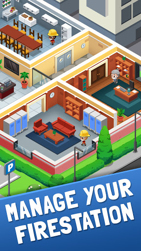 Idle Firefighter Tycoon - Fire Emergency Manager apkpoly screenshots 3