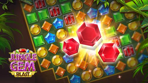 Jungle Gem Blast: Match 3 Jewel Crush Puzzles  screenshots 7