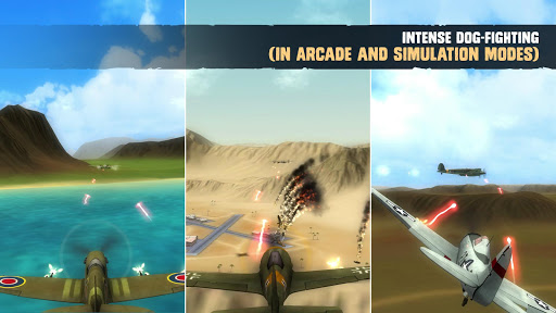 War Dogs : Air Combat Flight Simulator WW II apktreat screenshots 1