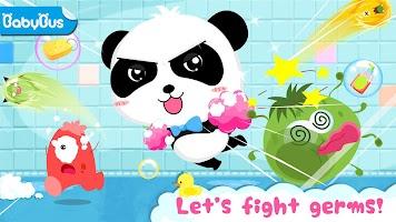 Baby Panda's Bath Time