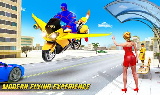 Superhero Flying Bike Taxi Driving Simulator Games 11 Screenshots 2