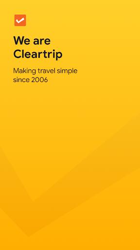 Cleartrip - Flights, Hotels, Train Booking App screenshots 1