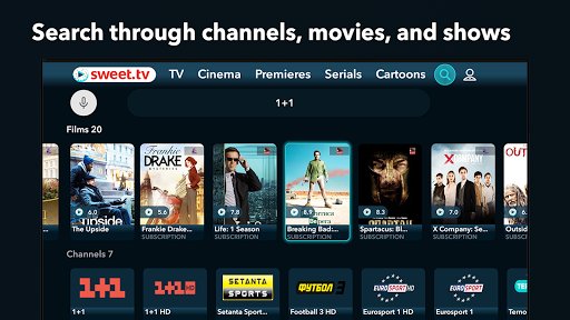 SWEET.TV - TV online for TV and TV-boxes screenshots 7