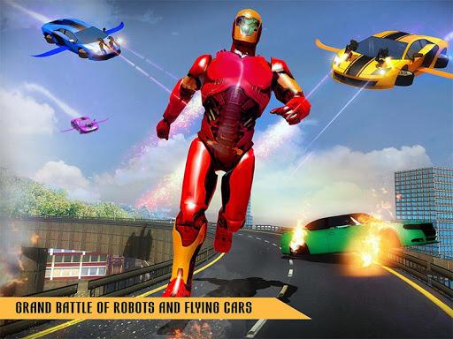 Flying Robot Car Games - Robot Shooting Games 2020 2.1 screenshots 12