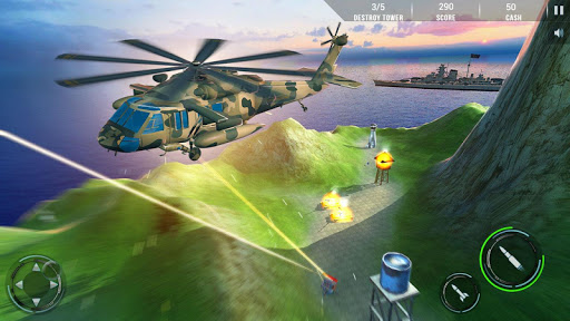 Helicopter Combat Gunship - Helicopter Games 2020 modavailable screenshots 14
