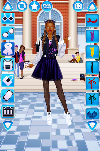 College Student Girl Dress Up android2mod screenshots 3