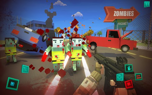 Zombie Pixel Warrior 3D APK + MOD (Unlimited Money) 5