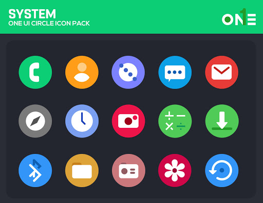 Download APK: OneUI Circle Icon Pack v3.6 [Patched]