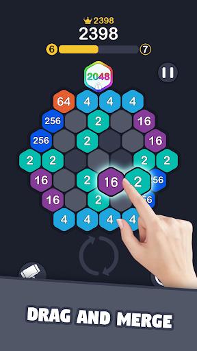 2048 Hexagon Match  screenshots 1