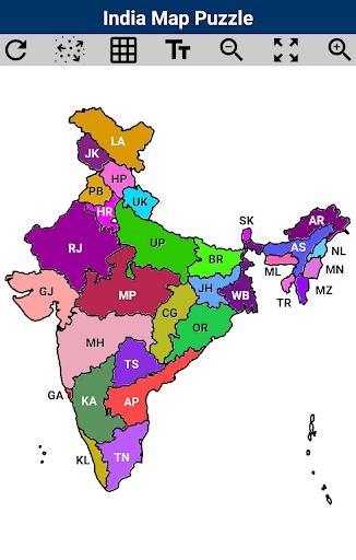 India Map Puzzle  Pc-softi 1