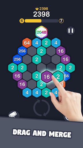 2048 Hexagon Puzzle screenshots 1