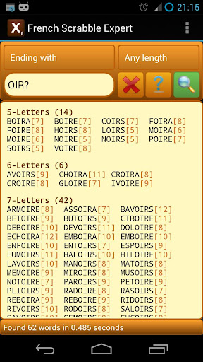 Word Expert - French (for SCRABBLE) 3.5 screenshots 3