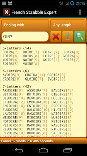 Word Expert - French (for SCRABBLE) 3.7.1 screenshots 3