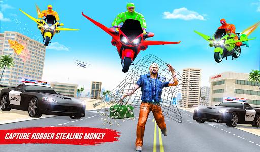 Superhero Flying Bike Taxi Driving Simulator Games 11 Screenshots 20