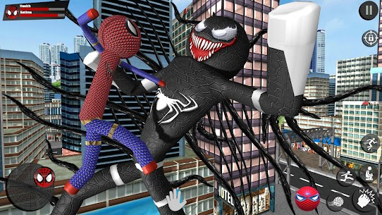 Stickman Rope Hero – Amazing Spider Crime City Game Hack Android and iOS 2