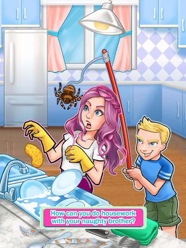 siblings war - cleaning day screenshot 2