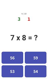 Multiplication tables – Math learning app Apk 3