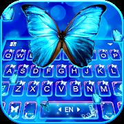 Delicate Neon Butterfly Keyboard Theme