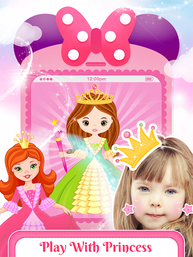 Pink Little Talking Princess Baby Phone Kids Game 9.0.1 screenshots 6