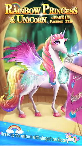 ud83dudc78Rainbow Princess & Unicorn Makeup - Fashion Trip 1.8.5038 screenshots 3