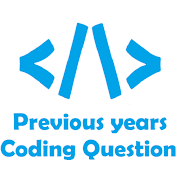 Previous year coding question