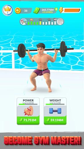 Gym Life 3D! - Idle Workout Simulator Game apktreat screenshots 2