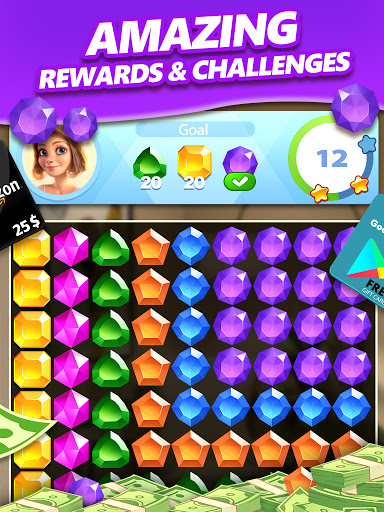 Jewel Blast & Diamond Crush Puzzle Game to BIG WIN android2mod screenshots 9