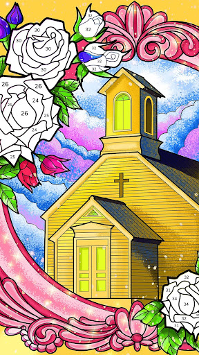 Bible Coloring - Paint by Number, Free Bible Games  screenshots 6