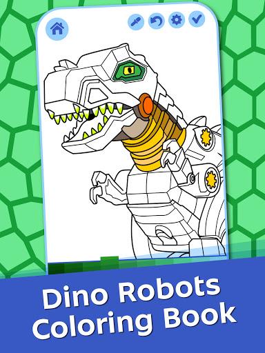 Dino Robots Coloring Book for Boys Latest screenshots 1