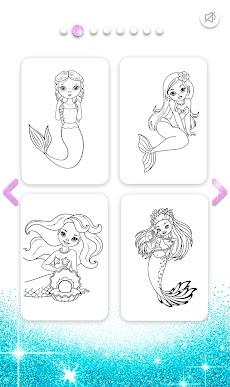 Mermaid Coloring Book Glitterのおすすめ画像3