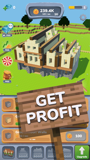 House Craft 3D - Idle Block Building Clicker modavailable screenshots 14