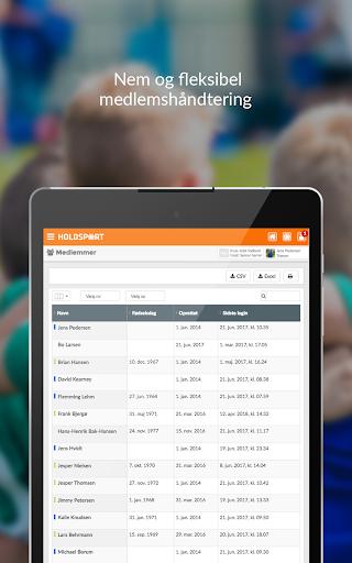 Holdsport - Hurtig tilmelding & kontingentbetaling 6.6.348 screenshots 14