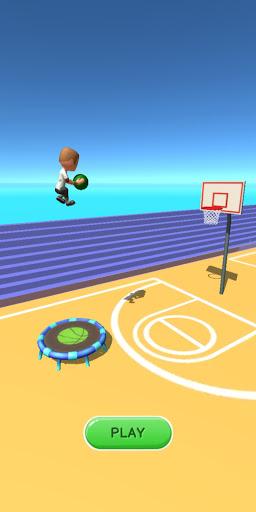 Jump Up 3D: Jump Dunk - Trampoline Basketball game  screenshots 1