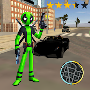 Green Pool Stickman Rope Hero Gangstar Mafia