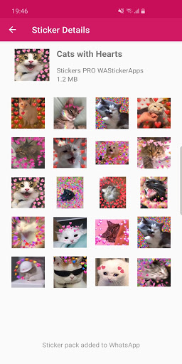 New Funny Cat Memes Stickers WAStickerApps  Screenshots 7