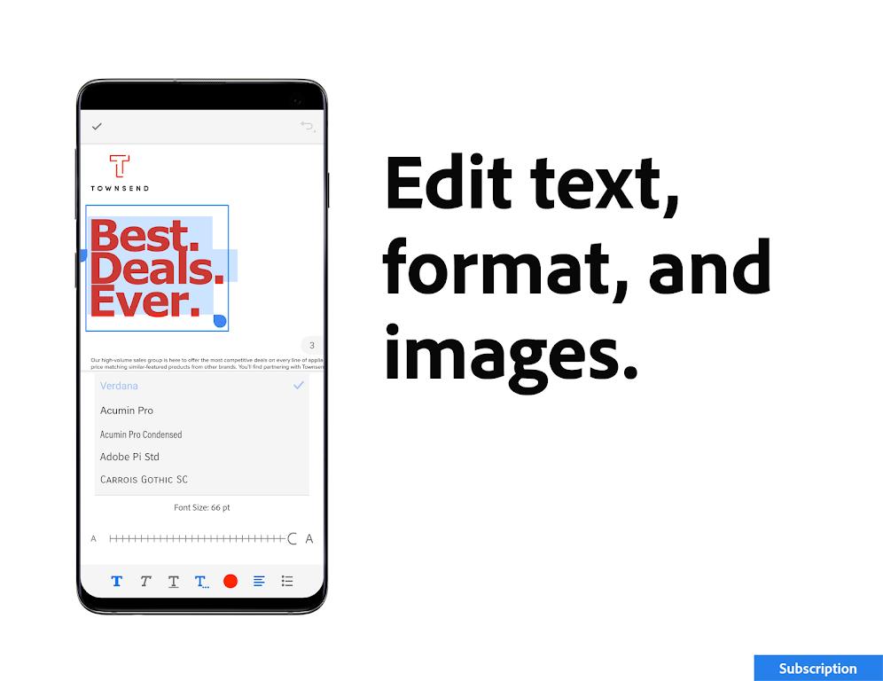 Adobe Acrobat Reader: Edit PDF poster 5