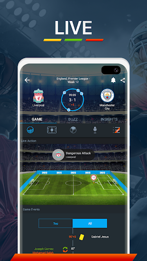 365Scores - Live Scores and Sports News screen 1