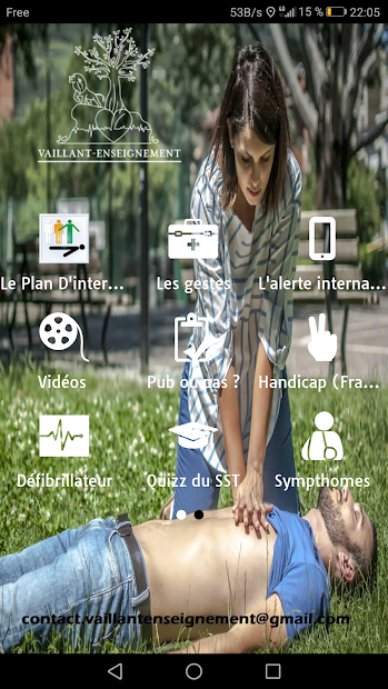 PREMIERS SECOURS SST Android App Screenshot