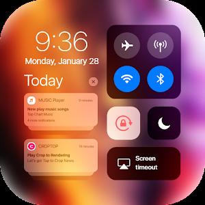 iCenter iOS14 Control Center iNoty iOS14 5.6.0 by Zayzik Studio logo