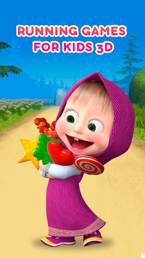 Masha and the Bear: Running Games for Kids 3D  screenshots 8