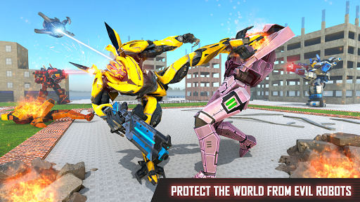 Mega Robot Games: Flying Car Robot Transform Games modavailable screenshots 12