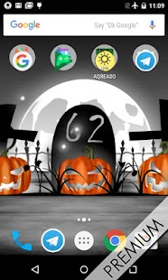 Halloween live wallpaper with countdown and sounds Screenshot