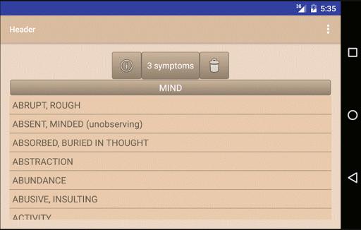 Homoeopathic Repertorium 3.8.9.6 Screenshots 6