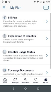 Kaiser Permanente Washington Screenshot