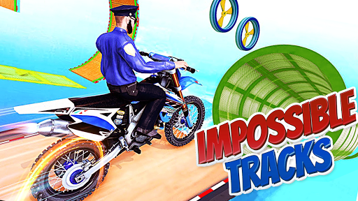Police Bike Stunt Games : 3D Mega Ramp Stunts Game  screenshots 1